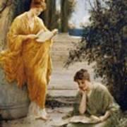 Classical Women Reading  Art Print