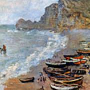 Claude Monet: Etretat, 1883 Art Print