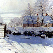 Claude Monet: The Magpie Art Print