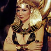 Claudette Colbert In Cleopatra 1934 Art Print