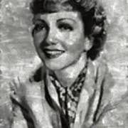 Claudette Colbert Vintage Hollywood Actress Art Print