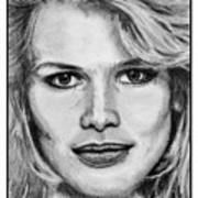 Claudia Schiffer In 1992 Art Print