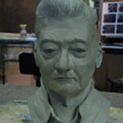 Clay Sculpture Of Gerald Simpson Art Print