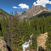 Clear Creek, Flat Top Mountain Art Print
