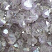 Clear Crystal Amethyst Art Print