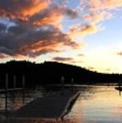 Clear Lake Sunset Art Print