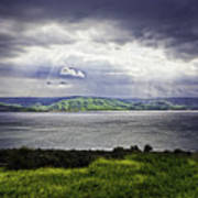 Clearing Over Galilee Art Print