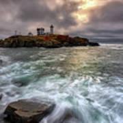 Clearing Storm At Cape Neddick Art Print