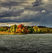 Clearing Storm Chippewa Lake Panorama  Art Print