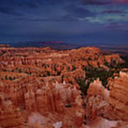 Clearing Storm Over The Hoodoos Bryce Canyon National Park Art Print