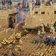 Clearing The Road- Kandahar Province Afghanistan Art Print
