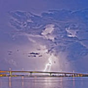 Clearwater Memorial Bridge II Art Print