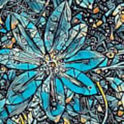 Clematis In Blue Fantasia Art Print