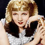 Cleopatra, Claudette Colbert, 1934 Art Print by Everett