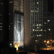 Cleveland At Night 03 - Lebron James Light Display Art Print by Neil Doren