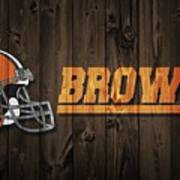 Cleveland Browns Barn Door Art Print