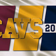 Cleveland Cavaliers Flag Art Print