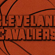 Cleveland Cavaliers Leather Art Art Print
