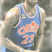 Cleveland Cavaliers Lebron James 1 Art Print