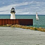 Cleveland Harbor Small Lighthouse Art Print