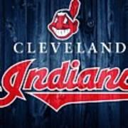 Cleveland Indians Barn Door Art Print