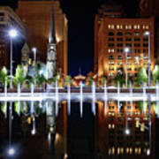 Cleveland Public Square Fountains Art Print