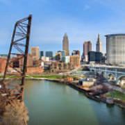 Cleveland Skyline #2 Art Print