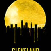 Cleveland Skyline Yellow Art Print