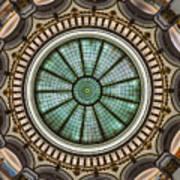 Cleveland Trust Rotunda Building Ceiling Art Print