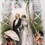 Clevelands Wedding, 1886 Art Print