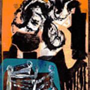 Cliff Master Bed 3 - Digital Version Art Print