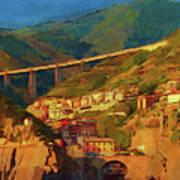 Cliff Village Art Print