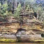 Cliffs At The Dells Art Print