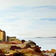 Cliffs By The Seaside Art Print by Carola Ann-Margret Forsberg
