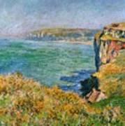 Cliffs Near Pourville Art Print