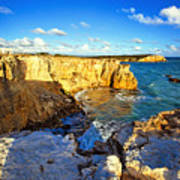 Cliffs Of Cabo Rojo At Sunset Print by George Oze
