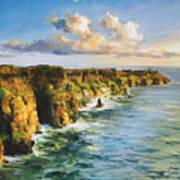 Cliffs Of Mohar 2 Art Print