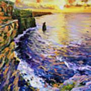 Cliffs Of Moher At Sunset Art Print