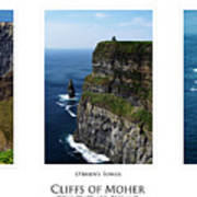 Cliffs Of Moher Ireland Triptych Art Print