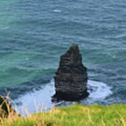 Cliff's Of Moher Needle Rock Formation In Ireland Art Print