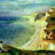 Cliffs On The Coast Near Pourville 1879 Art Print