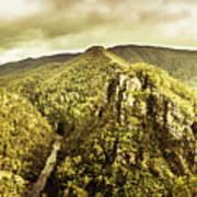 Cliffs, Steams And Valleys Art Print