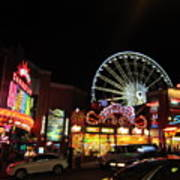 Clifton Hill At Night Art Print