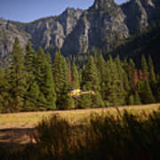 Climber Rescue Operation In Yosemite Art Print
