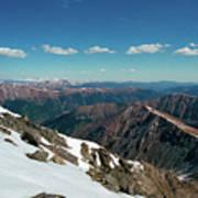 Climbing Greys Peak Art Print