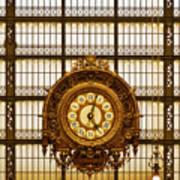 Clock Dorsay Museum Art Print