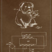 Clock For Keeping Animal Time Patent Drawing 1c Art Print