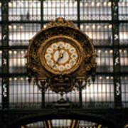 Clock Musee D'orsay Art Print