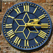 Clock With Gold Hands. Art Print