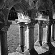 Cloister At Cong Abbey Cong Ireland Art Print